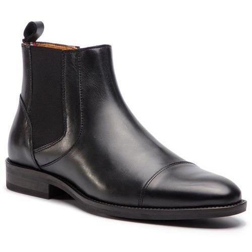0e651329aa1a5 Kozaki TOMMY HILFIGER - Essential Leather Toecap Chelsea FM0FM02140 Black  990