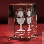 Pamiątka Komunii »hostia i kielich« średnia • statuetka 3D personalizowana