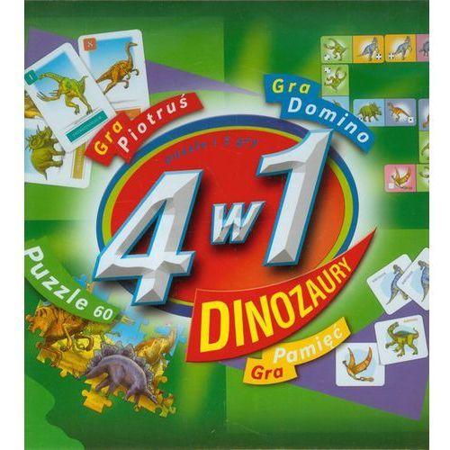 Praca zbiorowa 4 w 1 dinozaury