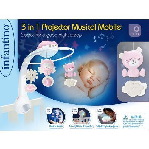 B-kids Muzyczna karuzelka infantino 3w1 różowa - darmowa dostawa od 199 zł!!! (3021105049142)
