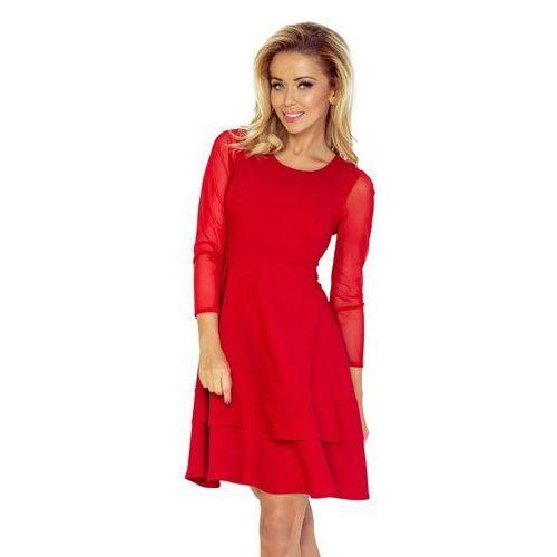 b26908ef4e Numoco 216-3 emma elegancka ołówkowa sukienka z koronką - bordowa xl ...