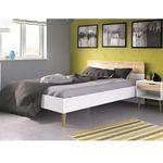 Łóżko oslo 180x200 w stylu skandynawskim marki Tvilum