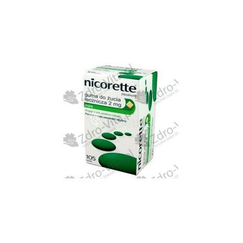 Nicorette Mint Guma 2 mg 105 szt