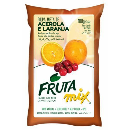 Frutamil comércio de frutas e sucos ltda Mix acerola z pomarańczą miąższ (puree owocowe, sok z miąższem) bez cukru 2 kg