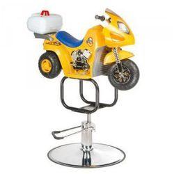 Dziecięcy Fotel Fryzjerski Moto Bw-604 Żółty, BW-604/ŻÓŁTY