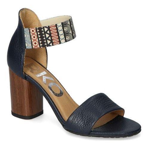 Sandały Ryłko 9HDA7_B3_7NY Granatowe lico, kolor niebieski