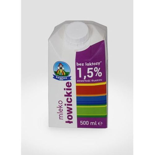 Mleko łowickie 0,5l. 1,5% 1szt. bez laktozy Łowicz