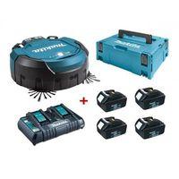 Makita  drc200z robot odkurzacz biuro, magazyn, sklep + 4x akumulator 18v 3,0 ah, ładowarka dc18rd, systainer makpac