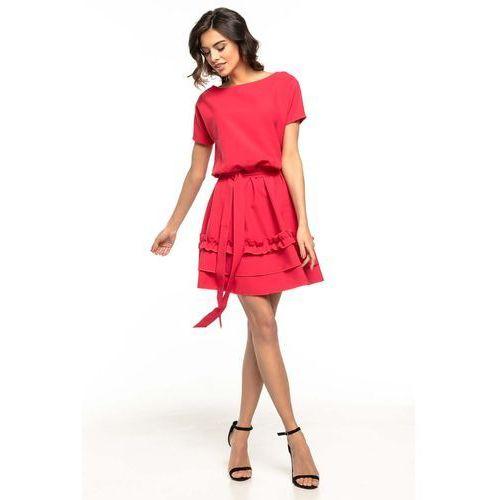 514c84fdfb Obcisła krótka sukienka z długim rękawem i dekoltem na plecach ...