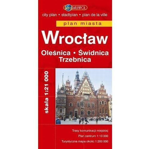 Wrocław. Oleśnica. Świdnica. Trzebnica. Plan miasta w skali 1:21 000 (2 str.)