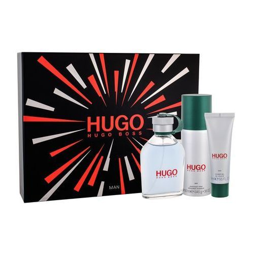 Hugo boss hugo man zestaw 125 ml edt 125 ml + dezodorant 150 ml + żel pod prysznic 50 ml dla mężczyzn - Ekstra upust