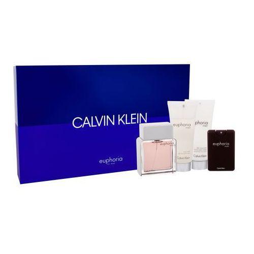 Calvin Klein Euphoria Men zestaw 100 ml Edt 100 ml + Edt 20 ml + Balsam po goleniu 100 ml + Żel pod prysznic 100 ml dla mężczyzn