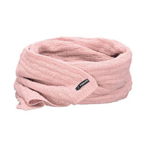 Zimowy szalik damski PaMaMi - Pudrowy róż - Pudrowy róż (5902934014694)