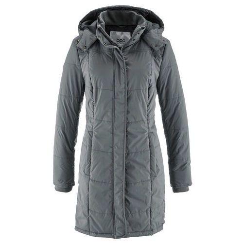 Bonprix Długa kurtka pikowana, ocieplana dymny szary
