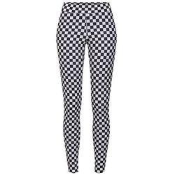 Urban Classics Legginsy 'Check Pattern' czarny / biały, kolor biały