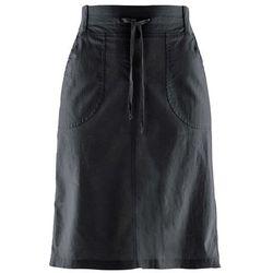 Spódnica lniana ze ściągaczem bonprix czarny, Spódnica