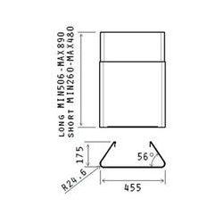 Komin długi ELICA KIT0010439 - Niski koszt dostawy! Pomoc specjalisty: 661 117 112 - produkt z kategorii- Kominy wentylacyjne