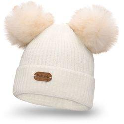 Pamami Zimowa czapka dziewczęca - ecru - ecru