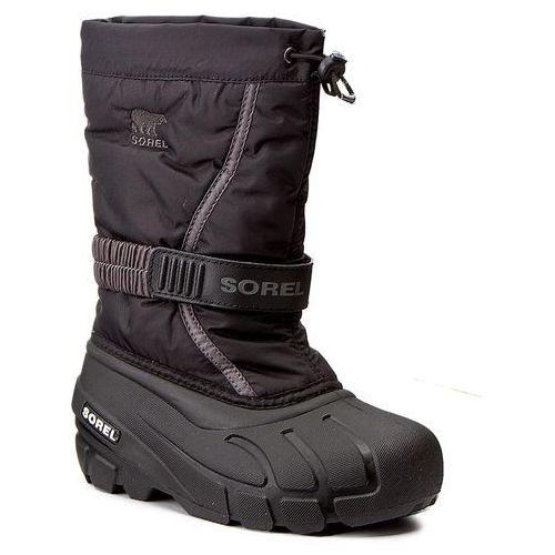 Śniegowce SOREL - Childrens Flurry NC1885 Black/City Grey 016