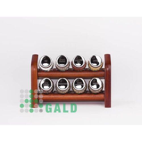 półka z przyprawami 8-el. ciemne drewno połysk 5901832922155 marki Gald