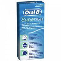 Nić dentystyczna oral b super floss 50 odcinków marki Oral-b