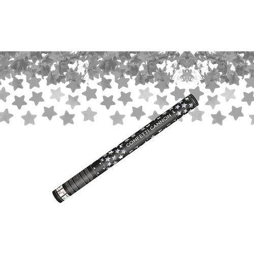 Tuba strzelająca - srebrne gwiazdki metaliczne - 60 cm - 1 szt. marki Ap