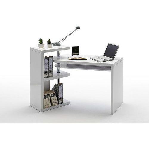Biurko nowoczesne białe wysoki połysk ATIS 115/50 cm