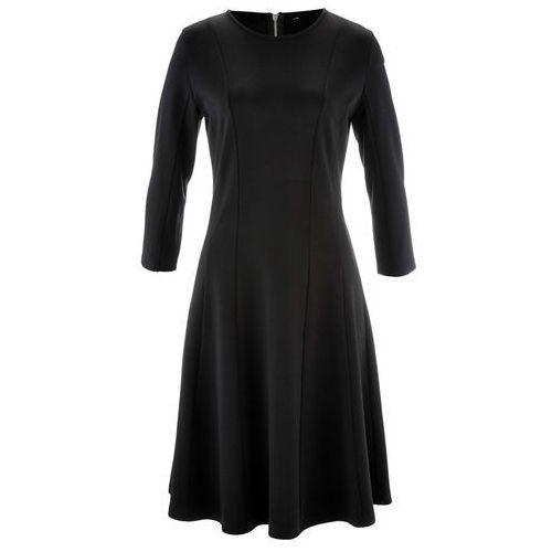 Sukienka punto di roma, rękawy 3/4, z kolekcji maite kelly czarny marki Bonprix