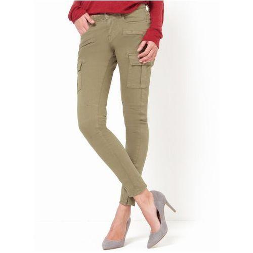Spodnie harper, krój slim, kieszenie pokrywające uda., Cimarron