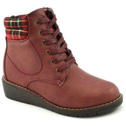Buty zimowe dla dzieci Wojtyłko 1055 - Czerwony   Bordowy, kolor czerwony