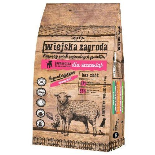 Wiejska Zagroda Jagnięcina ze szpinakiem dla szczeniąt, Waga: 9kg -- Ekspresowa wysyłka --