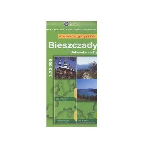 Bieszczady i Bukovske Vrchy mapa turystyczna skala 1:70 000 - Praca Zbiorowa, praca zbiorowa