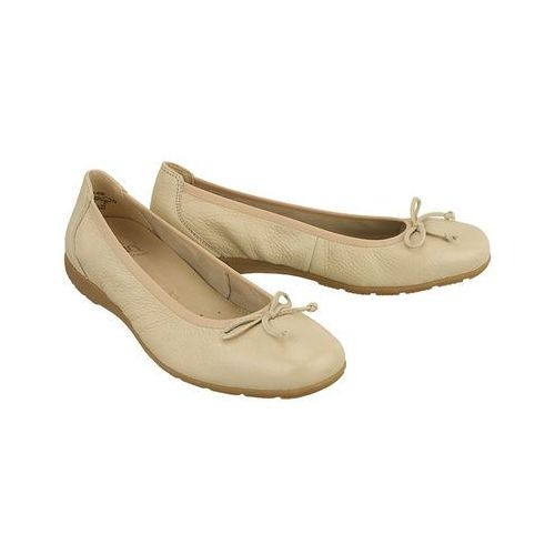 CAPRICE 22106-28 406 beige deer, baleriny damskie - Beżowy