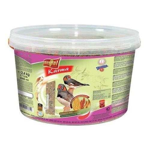 VITAPOL Pokarm pełnowartościowy dla zeberek 2,4kg (3l) wiaderko (5904479023612)