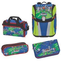 sunny plecak z akcesoriami szkolnymi, 4-częściowy - drużyna piłkarska marki Scout