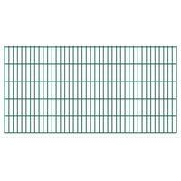 Vidaxl 2d panele ogrodzeniowe 2008x1030 mm 34 m zielone 17 szt (8718475986935)