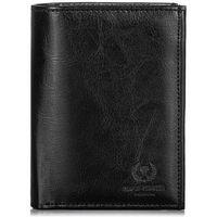 Czarny elegancki portfel męski skórzany