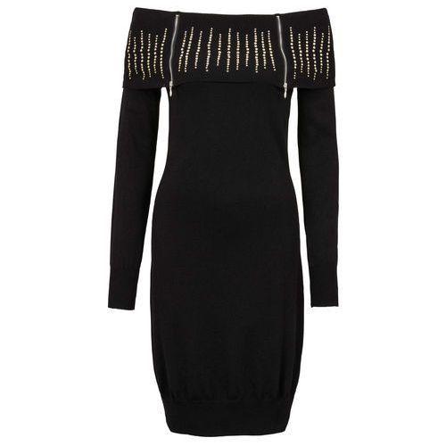 Sukienka dzianinowa bonprix czarny, kolor czarny