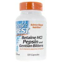 Doctor's Best Betaine Hcl Pepsin & Gentian Bitters - 120 kapsułek