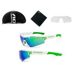 Okulary stingray białe 2 pary soczewek - biało - zielony marki Accent