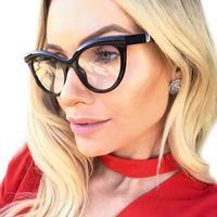 Okulary damskie zerówki czarne kujonki