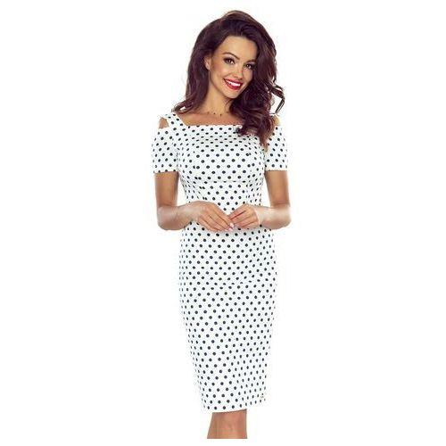 Seksowna sukienka ołówkowa w grochy