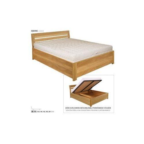 łóżko Dębowe Lk296 180x200 Dąb Naturalny