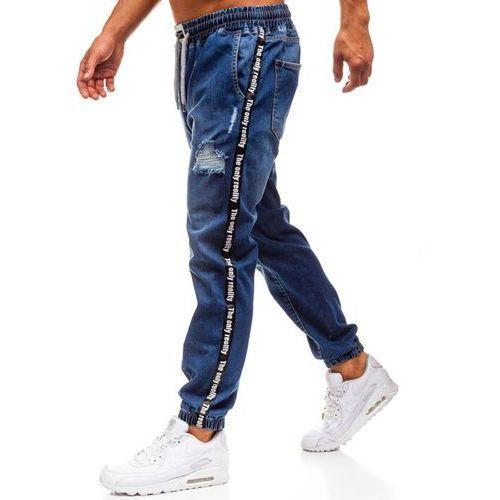 bc3d738384b83 Spodnie jeansowe baggy męskie granatowe Denley 2045