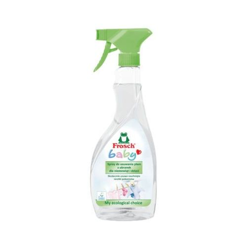 500ml baby spray do usuwania plam z ubranek dla niemowląt i dzieci marki Frosch