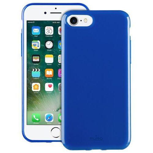 PURO Sunny Kit - Zestaw etui iPhone 7 + składane okulary przeciwsłoneczne (niebieski), kolor niebieski