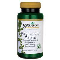 Kapsułki Swanson Magnez Malate (Jabłczan magnezu) 200mg 60 kaps.