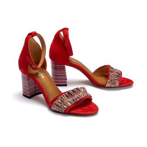 04144-08/00-5 czerwony, sandały damskie marki Maciejka