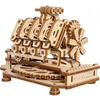 Wooden-city Drewniane puzzle mechaniczne 3d wooden.city - silnik v8 #t1