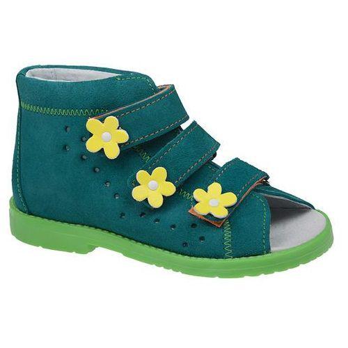 Dawid Sandałki profilaktyczne ortopedyczne buty 1042 turkus tz jp - turkusowy ||zielony ||multikolor